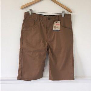 Levi's 505 Tan Regular Fit Knee Length Shorts